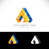 Triangle Abstract logo. Business Technology icon sign. Royalty Free Stock Photo