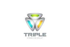Triangle Abstract Logo technology design vector  Royalty Free Stock Photos