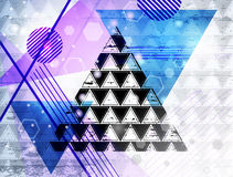 Triangle_11. Abstract technology web background. Business abstract Stock Images