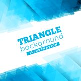 Triangle abstract vector background illustration Royalty Free Stock Photo