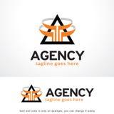 Triangle abstraite Logo Template Design Vector, emblème, concept de construction, symbole créatif, icône Images libres de droits