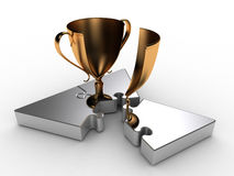 Triangle of Achievement. A puzzle, the solution of which bears the Prize Royalty Free Stock Photography
