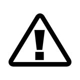 Triangle alert signal icon. Vector illustration design Stock Image