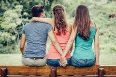 Triangle amoureux Photographie stock libre de droits