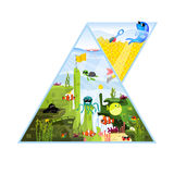 Triangle Aquarium Vector Illustration Royalty Free Stock Images