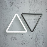 Triangle Arrow Black White Up Down Concrete Royalty Free Stock Images