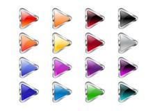 Triangle arrow buttons Stock Photos
