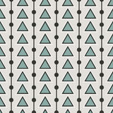 Triangle arrow and dots seamless pattern. Can be used for web, print and book design, home decor, fashion textile, wallpaper Stock Illustration