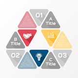 Triangle arrows infographic diagram 3 options Royalty Free Stock Photos