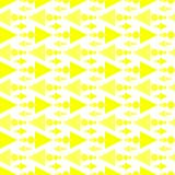 Triangle arrows pattern seamless background. Yellow triangles and dots texture pattern pointing left and right. Seamless background Stock Photos