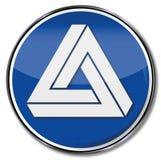 Triangle avec l'illusion illustration libre de droits