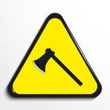 Triangle avec un ` de hache de ` de symbole Illustration de vecteur illustration libre de droits