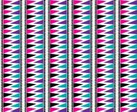 Triangle Aztec Seamless Pattern Bold Bright Stock Image