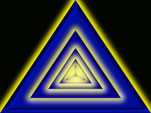 Triangle background. An illustration of a triangle repeating into the background Stock Photo