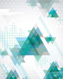 Triangle Background. Cool abstract background with transparent triangles and geometric shapes Stock Images