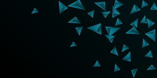 Triangle background. Abstract composition of triangular crystals. 3D vector illustration . Minimal geometric background. Emerald three-dimensional triangular vector illustration