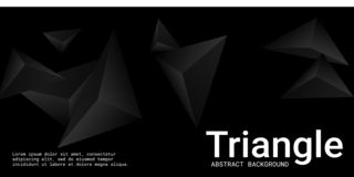 Triangle background. Abstract composition of triangular pyramids. royalty free illustration