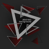 Triangle background. Abstract background, triangles on dark background Royalty Free Stock Photography