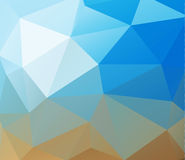 Triangle background. Blue polygons. Royalty Free Stock Image