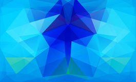 Triangle background. Blue polygons. Royalty Free Stock Photos