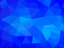 Triangle background. Blue polygons. Stock Images