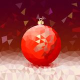 Triangle background with bright Christmas ball Stock Photo