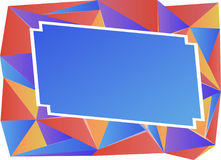 Triangle background color mix Royalty Free Stock Image