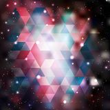 Triangle background with galaxy texture Stock Images