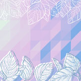 Triangle background with leaves Royalty Free Stock Photos