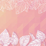 Triangle background with leaves Stock Photos