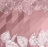 Triangle background with leaves Stock Photography