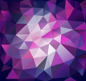Triangle background. Lilac polygons. Abstract background in modern style Royalty Free Stock Photography