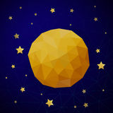 Triangle background with moon and the stars Stock Image