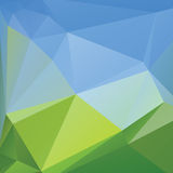 Triangle background, mountains,  polygon art, soft colored abstract illustration. Web mobile interface template. Royalty Free Stock Photography