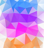 Triangle background. Multicolor polygons. Stock Image