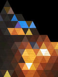 Triangle background and night town abstract Royalty Free Stock Photos