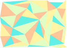 Triangle background pastel color mix Royalty Free Stock Photography