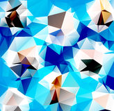 Triangle background. Pattern of geometric shapes Stock Images