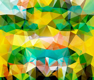 Triangle background. Pattern of geometric shapes Stock Photography