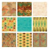 Triangle Background Pattern Set, Texture Stock Photos