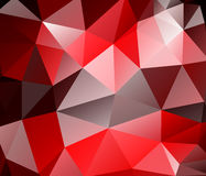 Triangle background. Red polygons. Stock Photo