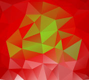 Triangle background. Red polygons. Royalty Free Stock Images