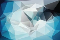 Triangle background. Triangle vector background in blue and gray colors Royalty Free Stock Photos