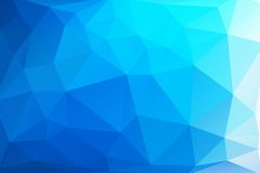 Triangle background. Triangle vector background in bright blue colors Stock Images