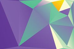 Triangle background. Triangle vector background in bright retro colors Stock Photography