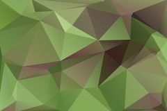 Triangle background. Triangle vector background in green and brown colors Royalty Free Stock Images
