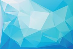 Triangle background. Triangle vector background in light blue colors Stock Images