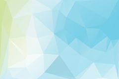 Triangle background. Triangle vector background in light blue and green colors Royalty Free Stock Photos