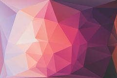 Triangle background. Triangle vector background in pink and magenta colors Stock Photography