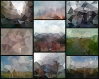 Triangle backgrounds Royalty Free Stock Photos